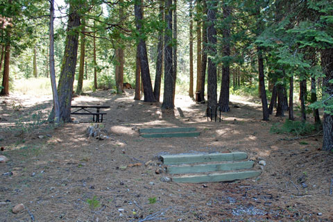 Campsite at Azalea Cove Campground, Union Valley Reservoir, CA