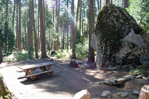Campsite at Wakaluu Hep Yoo Campground, Sourgrass, Stanislaus National Forest, CA