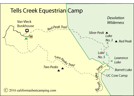 Red Peak Equestrian Trail leading out from Tells Creek Equestrian Camp, Eldorado National Forest and Desolation Wilderness, CA