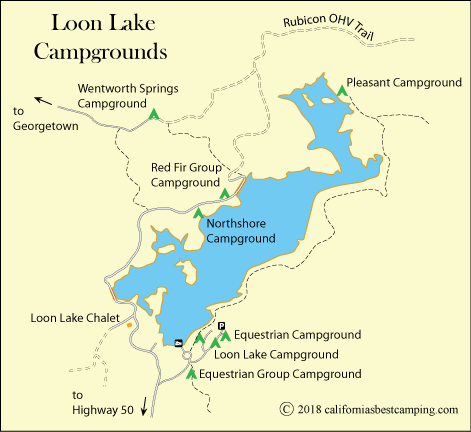 Loon Lake campground map, Eldorado National Forest, CA