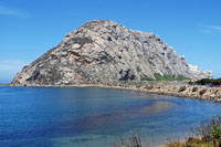 Morro Rock, Morro Bay,  Southern California campgrounds