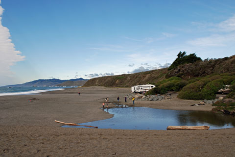 Wrights Beach Campground, Sonoma Coast State Park, CA