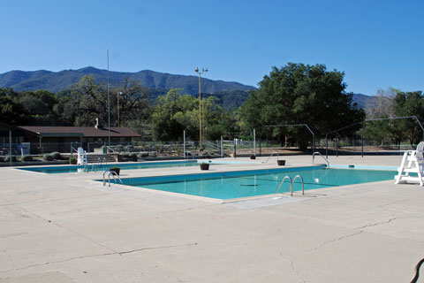 Cachuma Lake swimming pool, CA