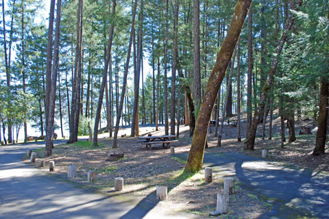 Fuller Grove Campground, Lake Pillsbury, CA