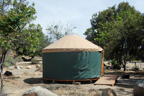 Yurt at Headquarters Campground, Kern River, CA