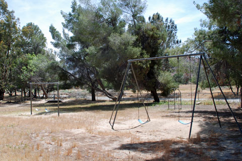 Tillie Creek Campground playground, Lake Isabella, CA