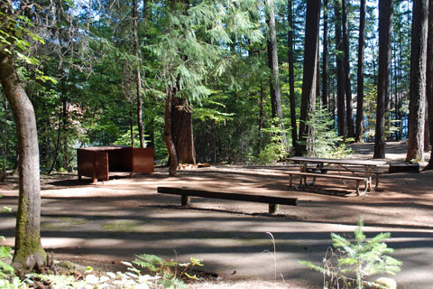 Tannery Gulch Campground at Trinity Lake