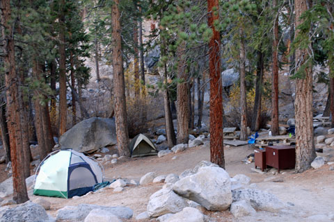 Whitney Portal Group Campground,  Inyo National Forest, CA