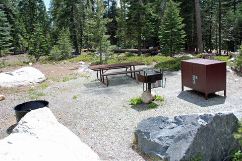 Campsite at Loon Lake Campground, Eldorado National Forest, CA