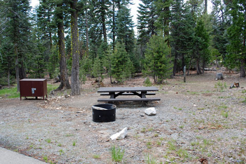 Campsite at Loon Lake Equestrian Campground, Eldorado National Forest, CA