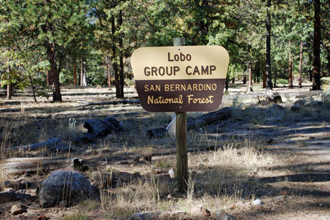 Lobo Group Campground sign, San Bernardino National Forest, CA