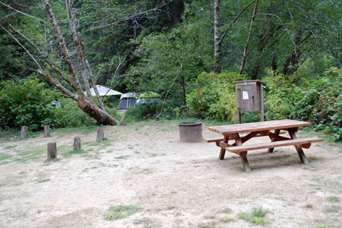 Russian Gulch State Park Campground, Mendocino coast