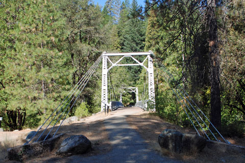 Sims Bridge over the Sacramento River in the Shasta-Trinity National Forest, CA