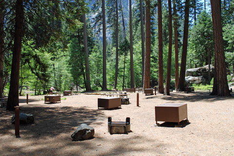 Backpackers Camp at North Pines Campground, Yosemite National Park
