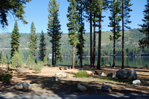 picnic site at Donner Lake, Donner Memorial State Park