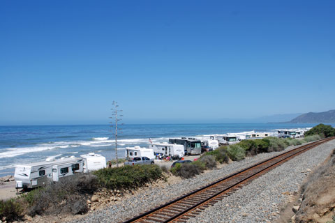 Campsites at Emma Wood State Beach Campground, Ventura County, CA