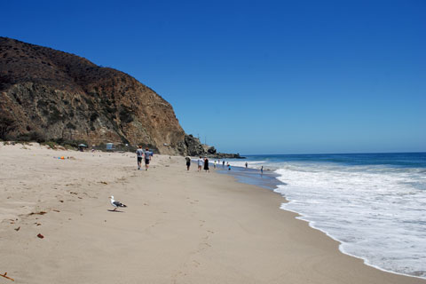 Sycamore Cove Beach at Point Mugu State Park, CA