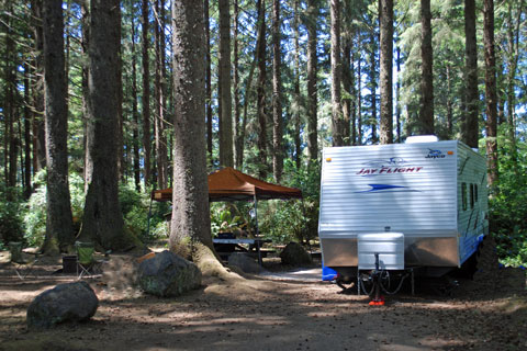 Abalone Campground, Patrick's Point State Park, CA