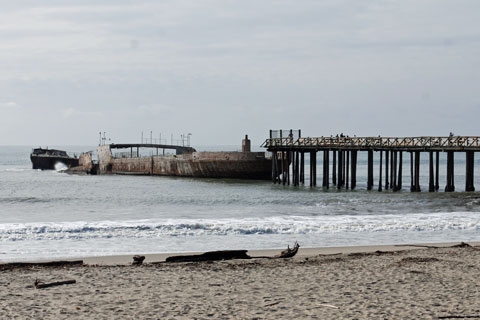 Concrete ship at Seacliff State Beach, CA