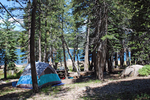 Campsite at Lower Blue Lake, Humboldt-toiyabe National Forest, CA