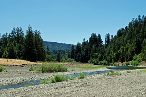 Eel River at Richardson Grove State Park, CA