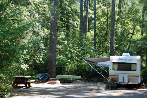 Patrick Creek Campground, Six Rivers National Forest, CA