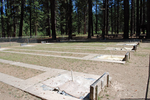 Horseshoe Pits next to Greenville Campground, Plumas National Forest