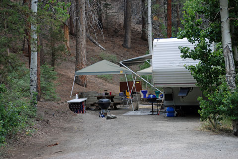 Reseversed Creek Campground, June Lake Loop, CA