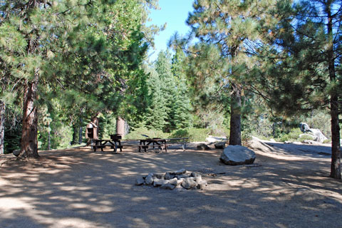 Campground at Camp Edison, Shaver Lake, Sierra National Forest, CA