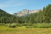 Sierra Buttes, Plumas National Forest,  Northern California campgrounds