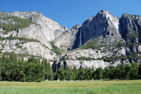 Yosemite Falls, Yosemite National Park, Central California campgrounds